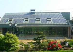 Preisgekröntes Metalldach mit integrierter Photovoltaikanlage